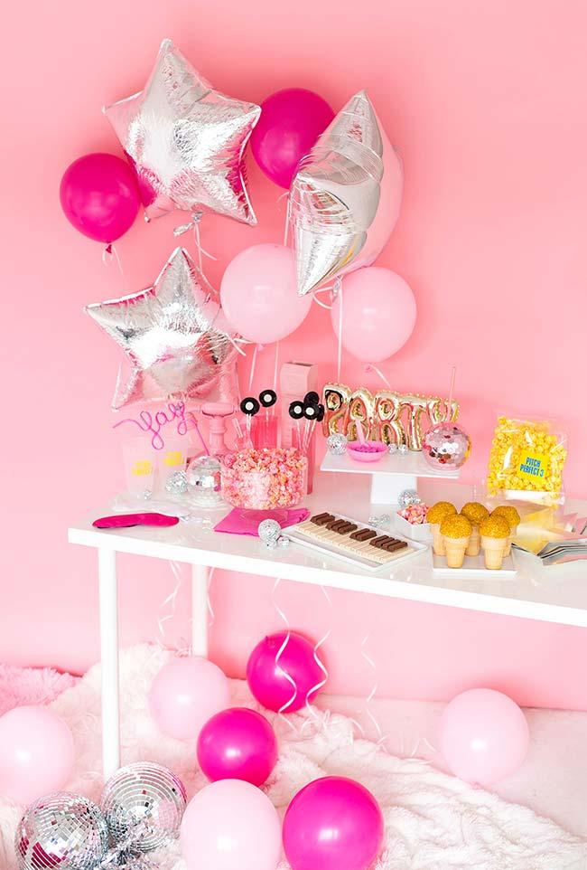 Festa do pijama com balões