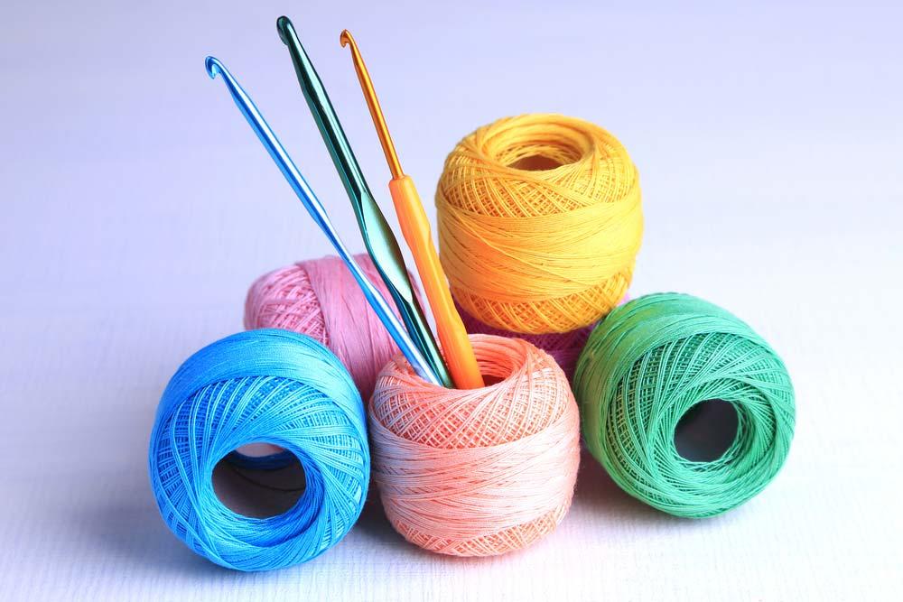 Materiais para fazer crochê