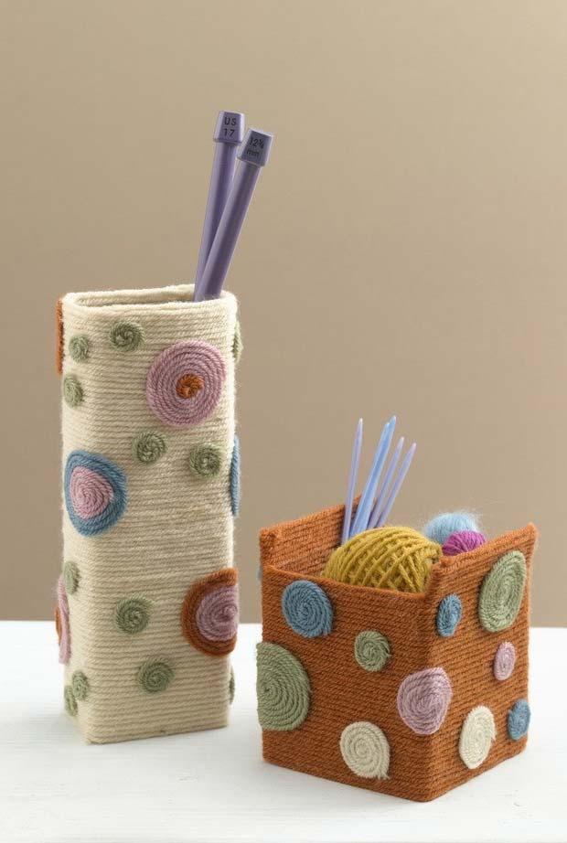 caixinhas para colocar seus materiais de artesanato da forma mais artesanal possível