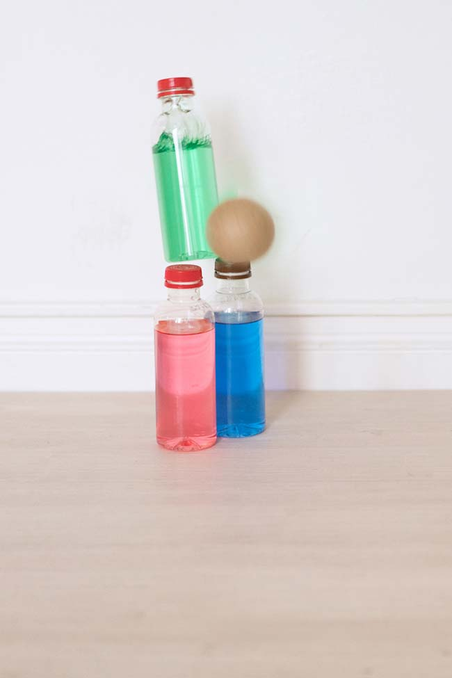 Boliche com garrafa pet