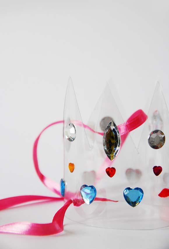 Preparar para a coroação: coroa de princesa de garrafa pet