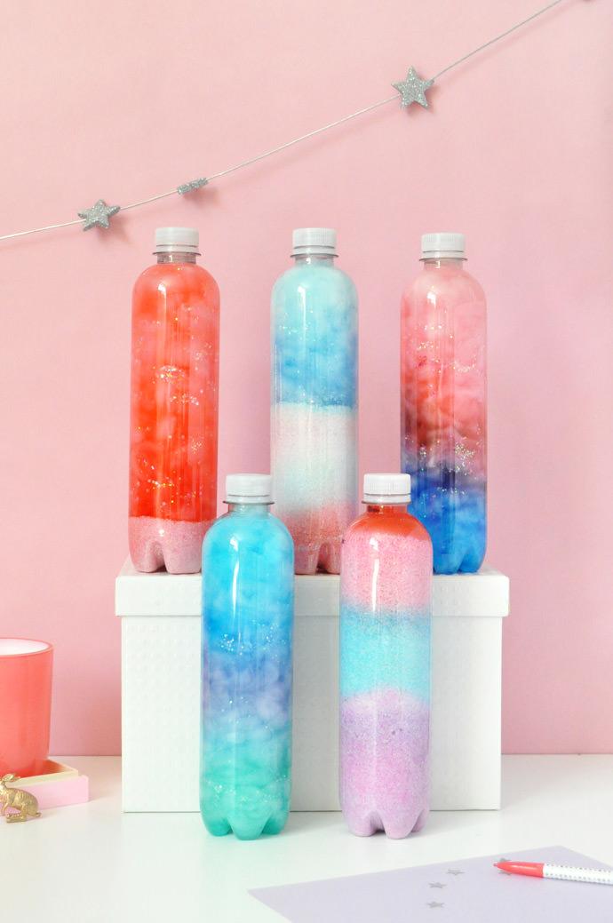 Galáxias na garrafa: artesanato com pets