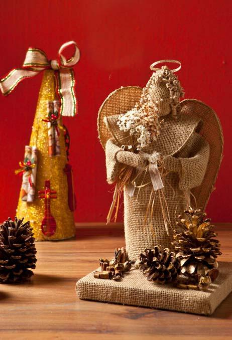Ideia de artesanato com garrafa pet para o Natal