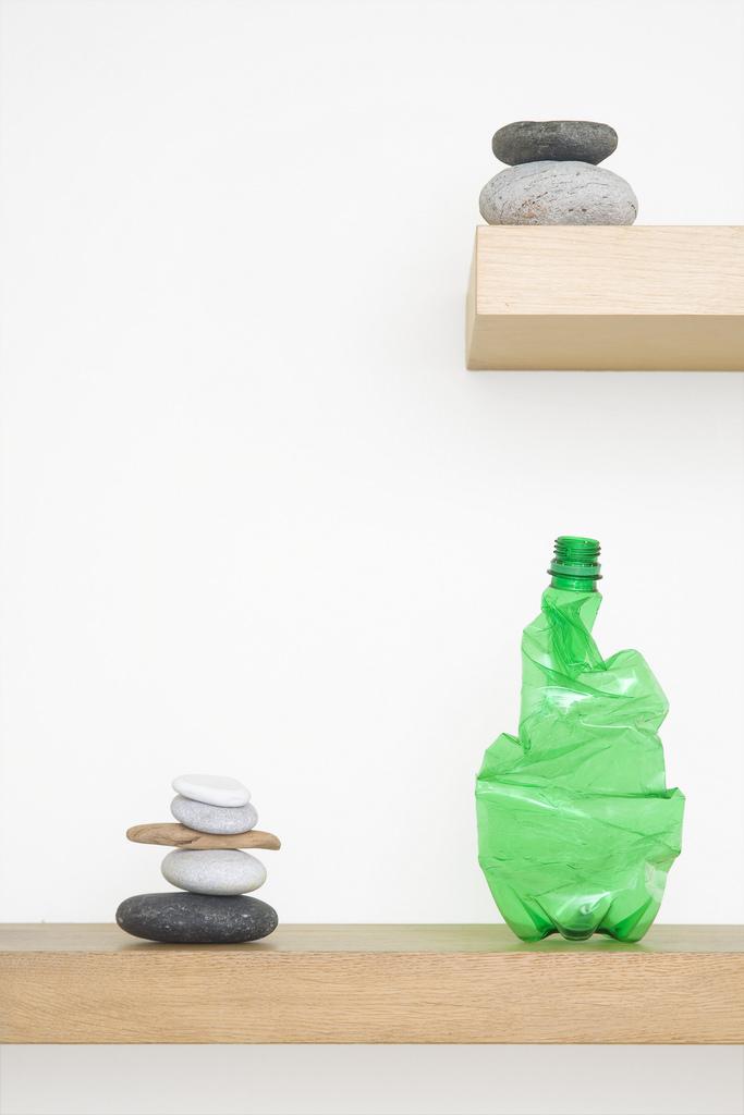 Uma escultura só sua: decoração simples para sua casa com garrafa pet amassada