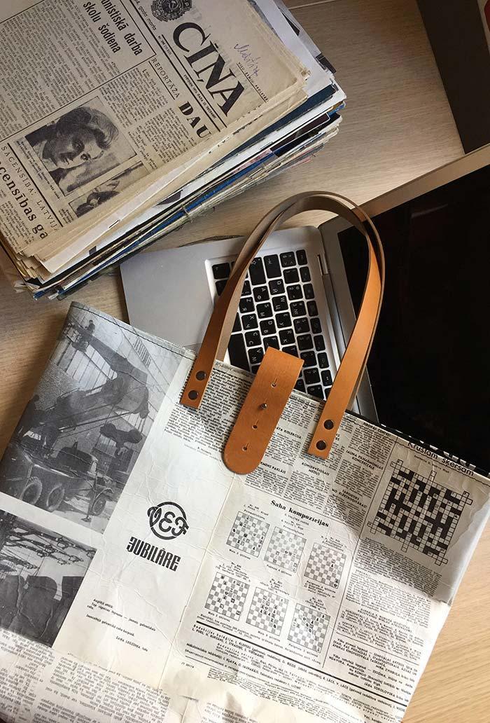 Artesanato com jornal: Bolsa sustentável feita com jornais antigos