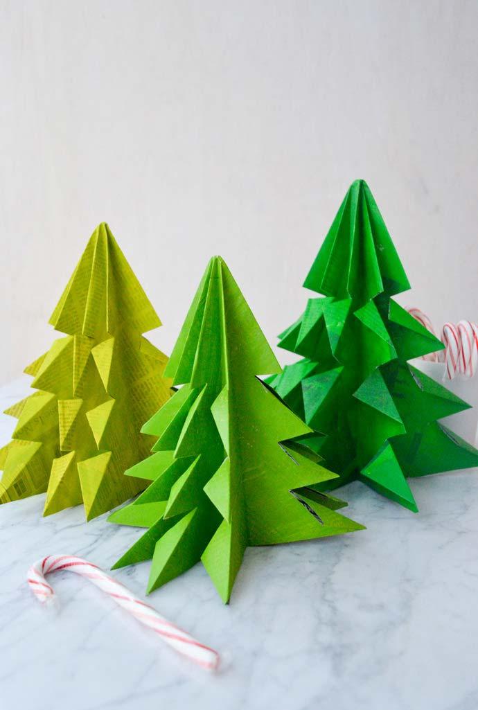 artesanato com jornal velho e muita criatividade para o natal