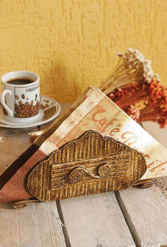 Artesanato com jornal e cola: porta-guardanapo de papel durinho e cheio de personalidade