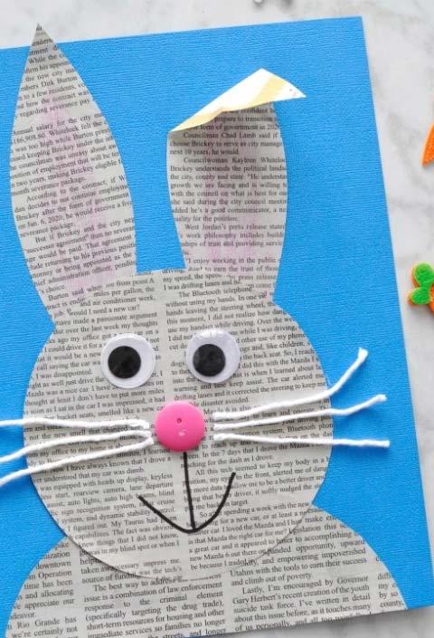 Artesanato com jornal: uma forma ainda mais sustentável para as crianças fazerem cartões especiais