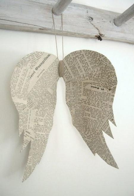 Artesanato com jornal: anjo