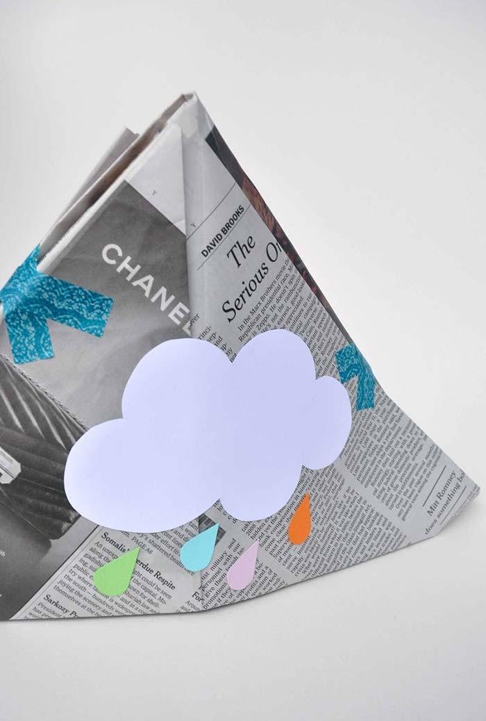 Artesanato com jornal: embrulho