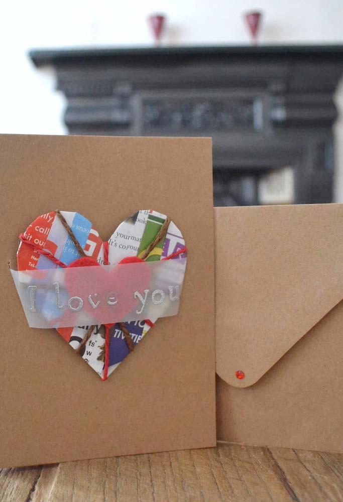 Artesanato com jornal ou revista para os seus cartões especiais