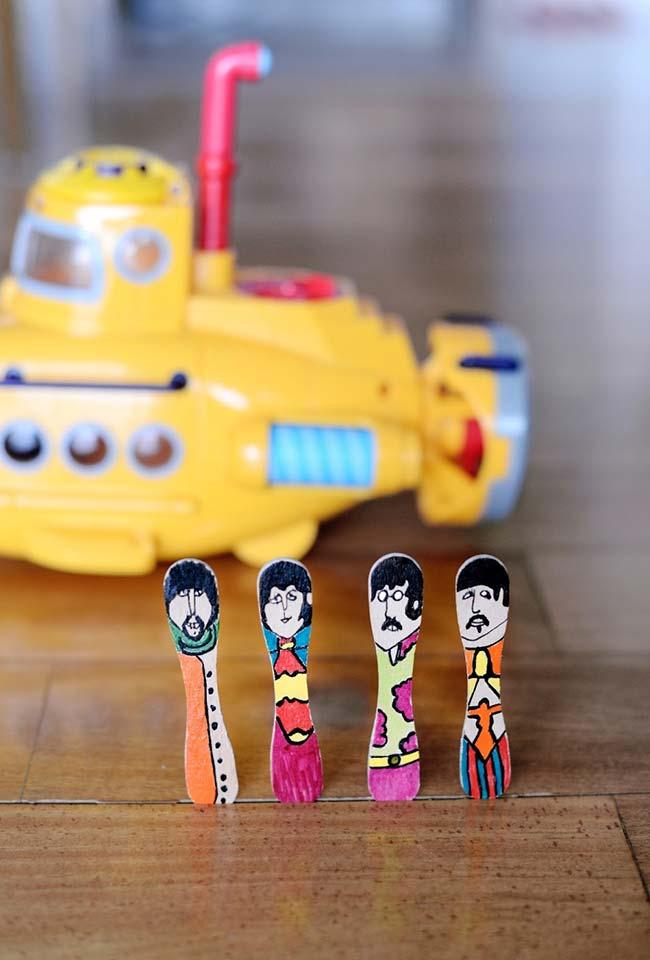 Seus ídolos no yellow submarine