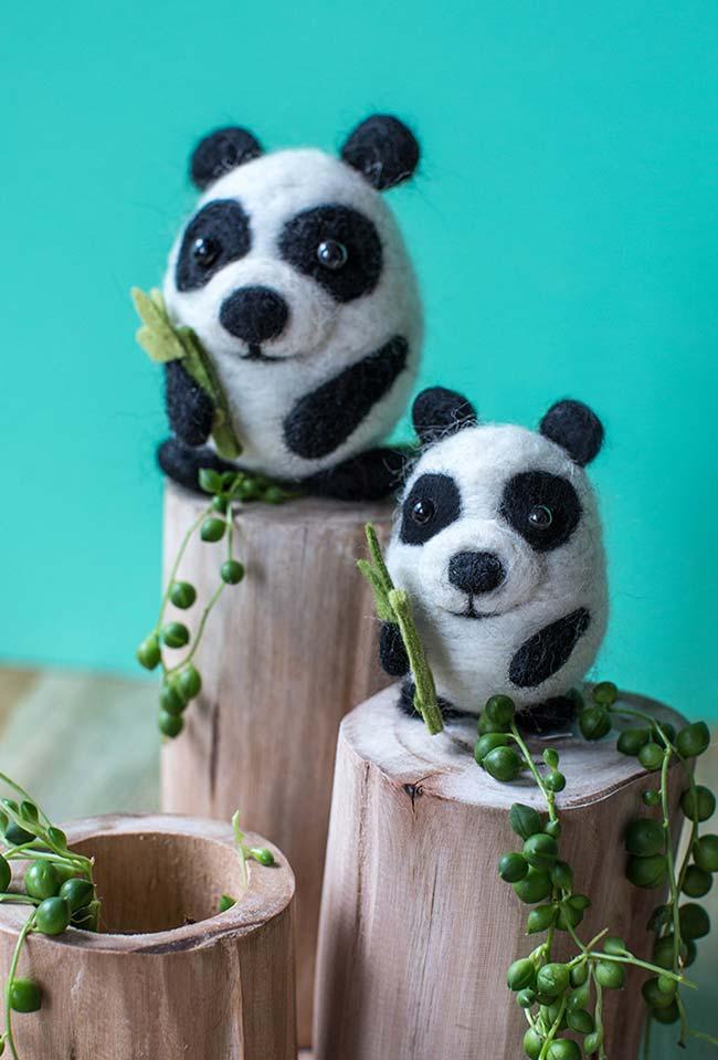 Panda fofo em feltro