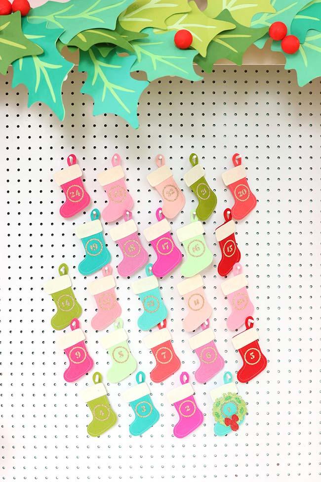 Decoração de Natal super colorida em feltro