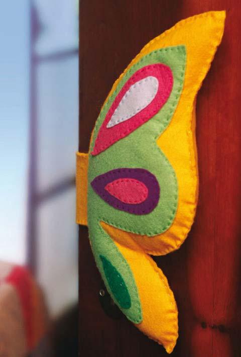 Artesanato em feltro: proteção para porta