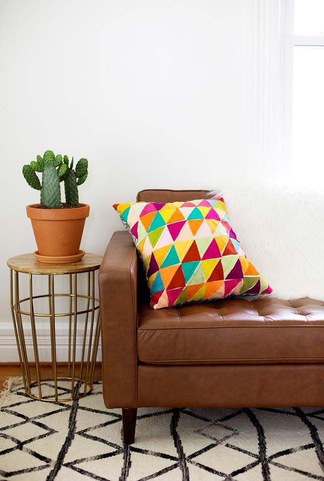 Estampa artesanal para almofadas em feltro