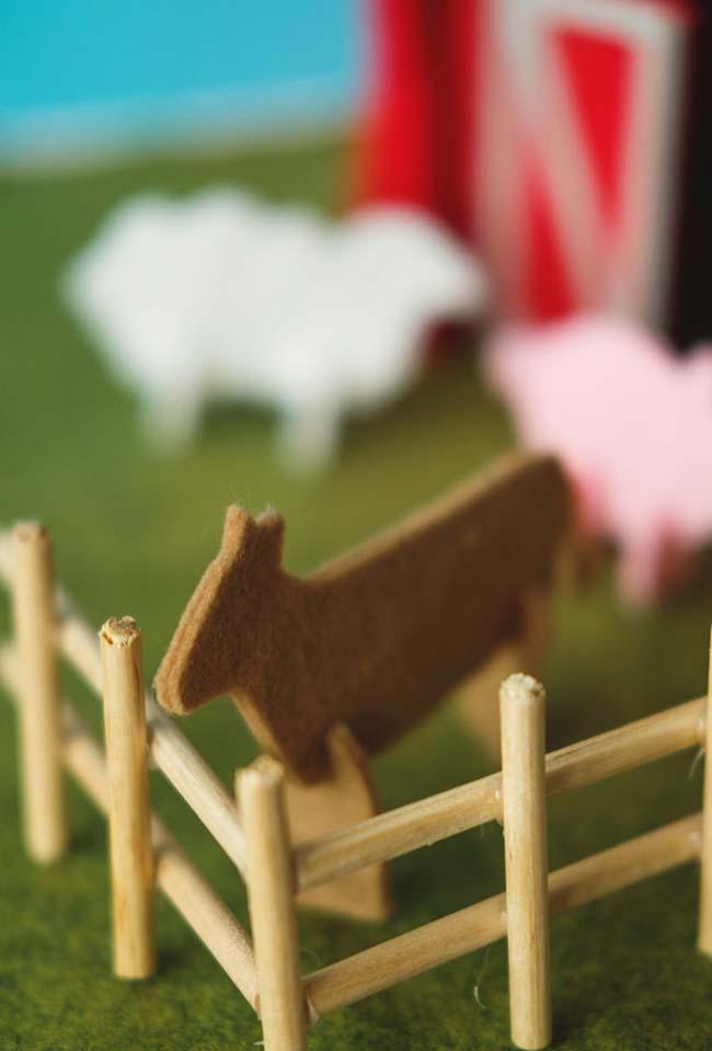 Animaiszinhos de artesanato em feltro