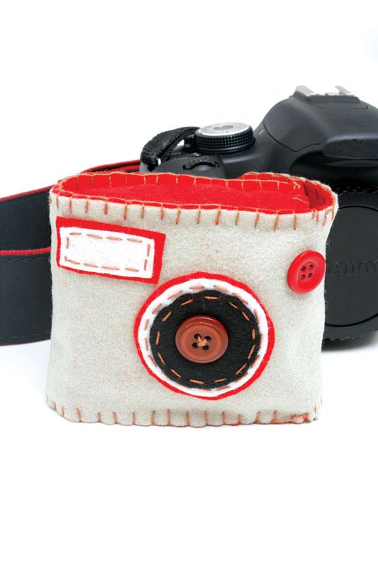 Capa para câmera digital de artesanato em feltro