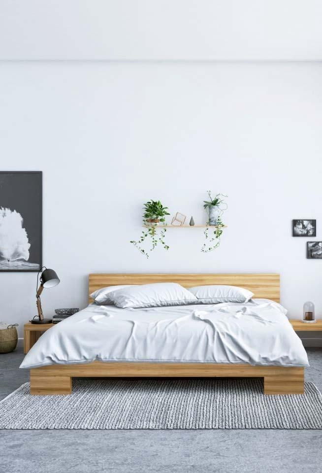 Quarto clean com cama japonesa