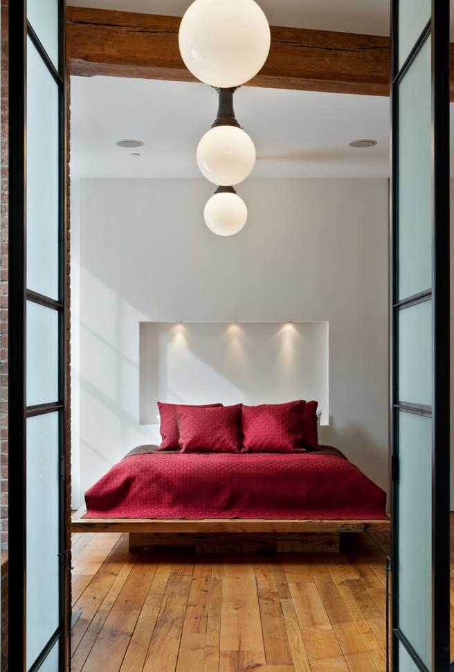 Luminárias no estilo oriental para cama japonesa