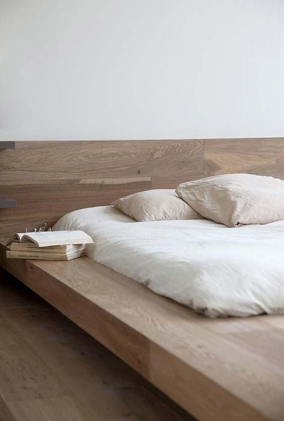 As laterais de apoio da cama japonesa podem ter o tamanho que desejar