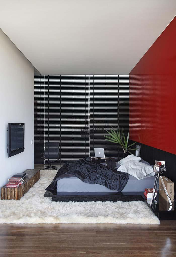 Cores orientais na decoração moderna desse quarto