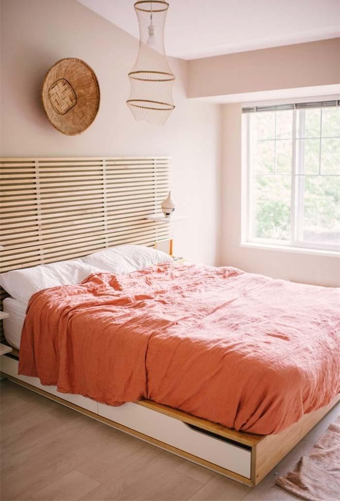 Altura adaptada da cama japonesa