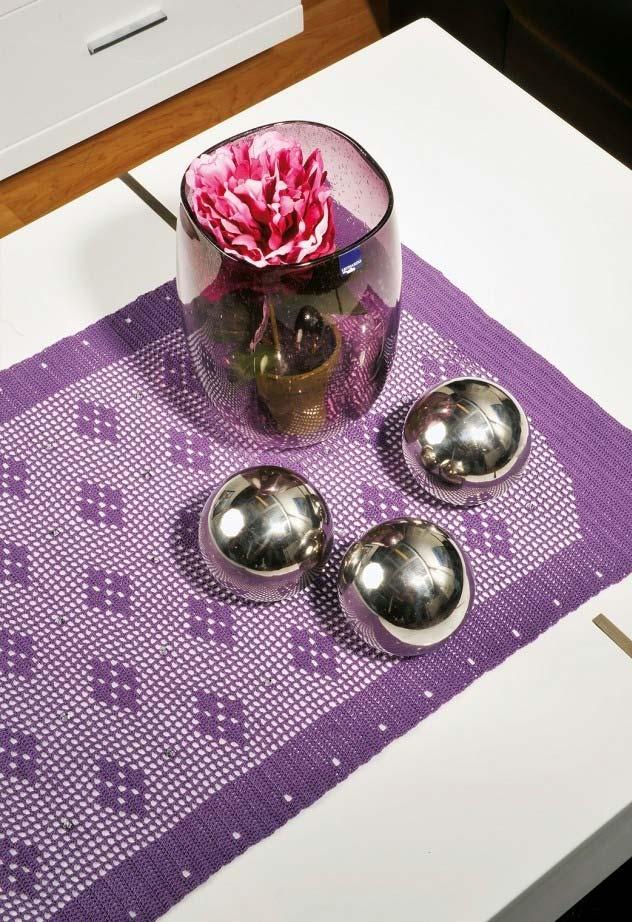 Caminho de mesa de crochê super delicado