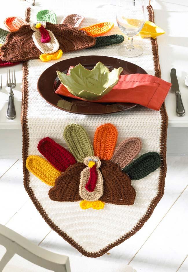 Caminho de mesa inspirado no Thanksgiving americano