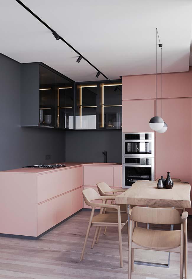 cozinha rosa 50 ideias tend ncias e projetos com a cor