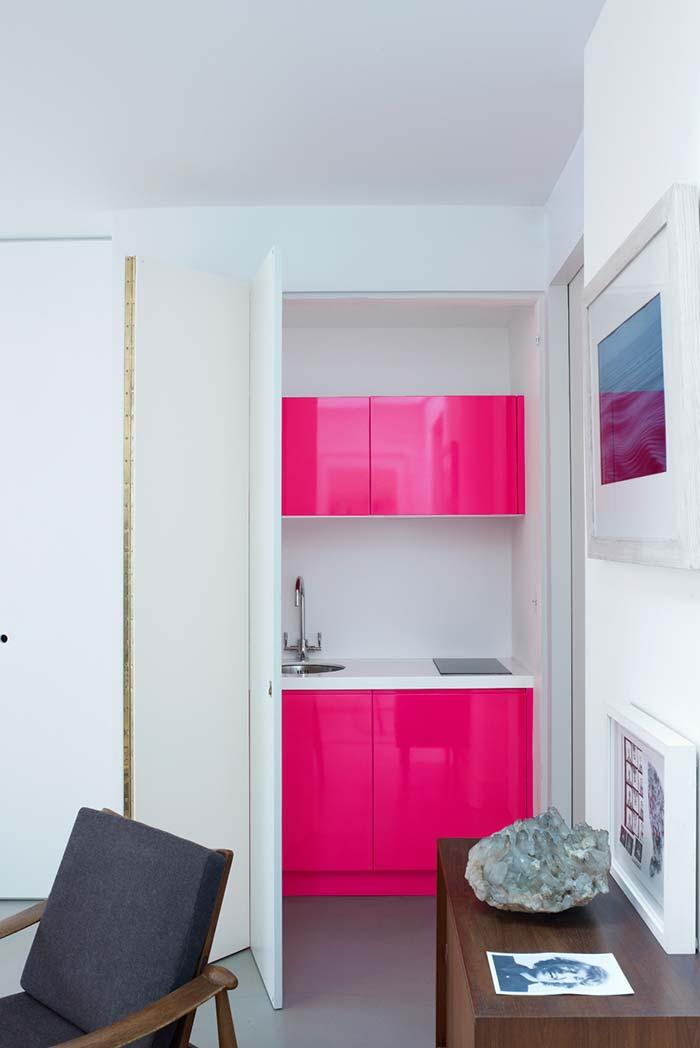 Mini-cozinha rosa pink