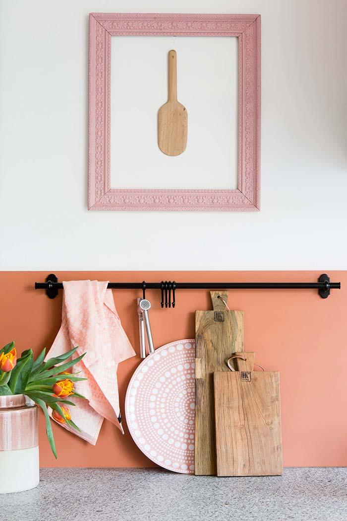 Utilize uma combinação de diversos tons de rosa