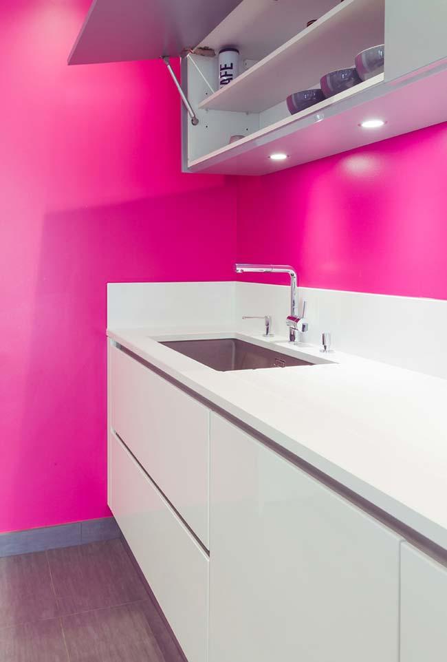 Mais um rosa pink no ambiente simples