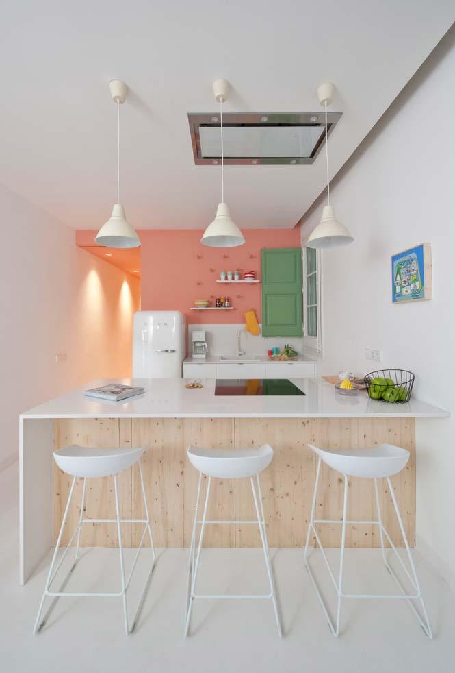 Cozinha rosa: escolha uma área, mesmo que seja pequena, para utilizar esta cor!