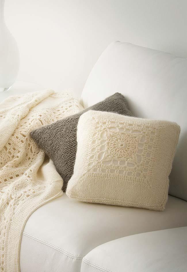 Capa de almofada de crochê simples e elegante