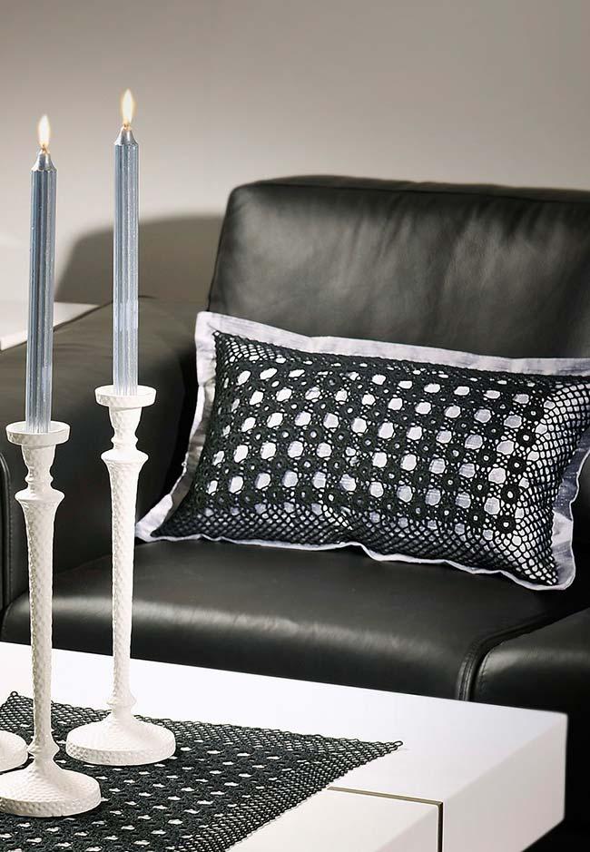 Almofadas de crochê para aplicação