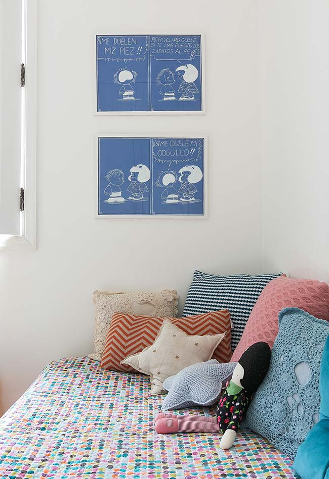 Almofada de crochê para quarto de criança