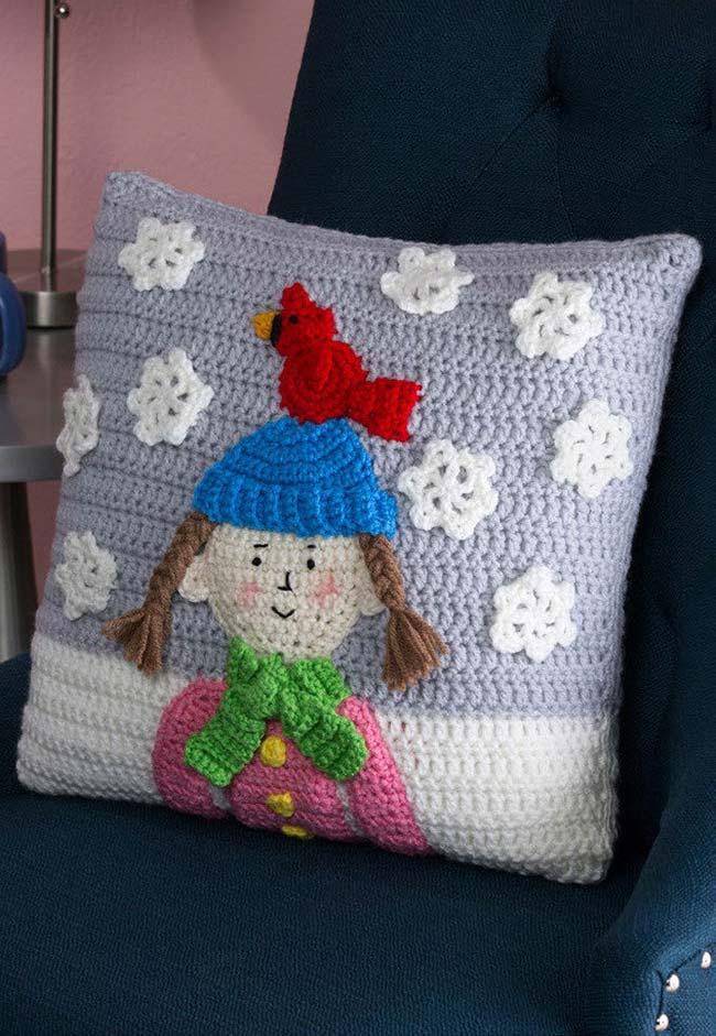 Aposte em desenhos e padrões na sua almofada de crochê