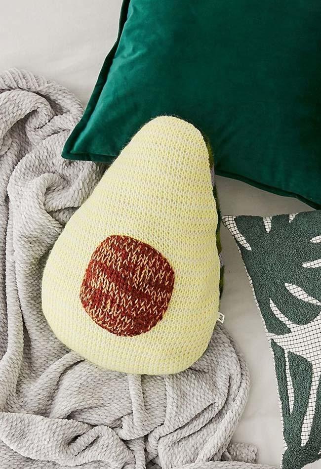 Aposte em diferentes formatos para suas almofadas de crochê fofinhas