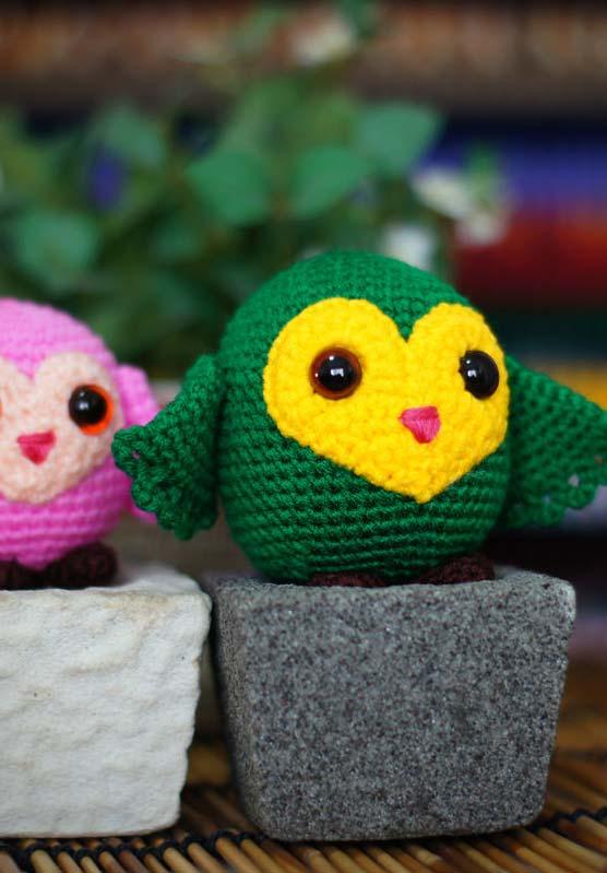 Mais uma ideia de coruja de crochê amigurumi