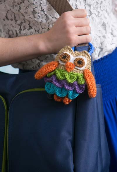 Amigurumi chaveiro coruja de crochê