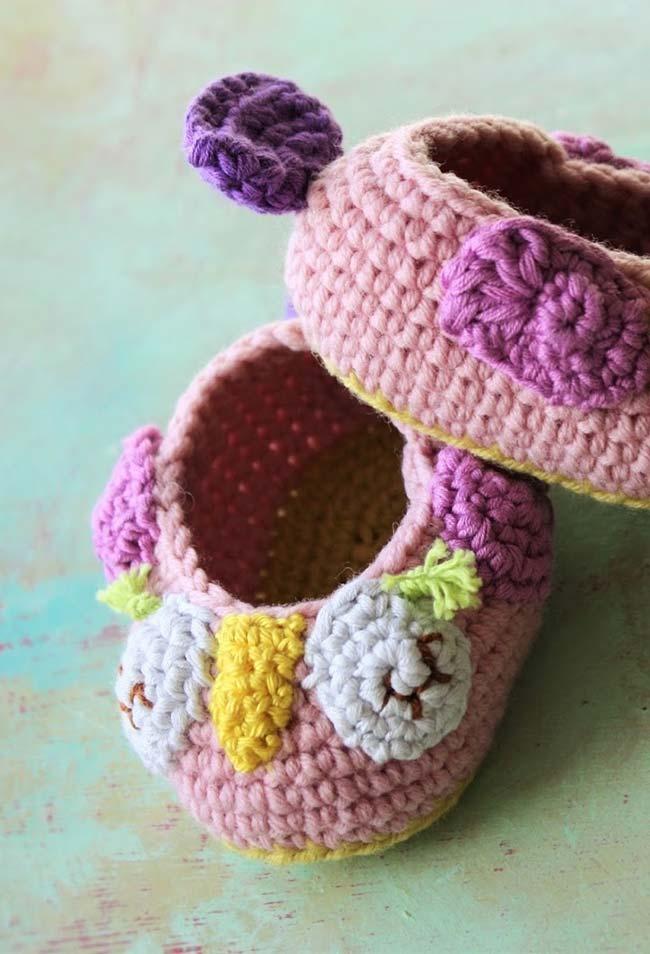 Mais ideia de cestinhas de crochê com o tema corujinhas