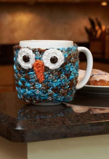 Mais um protetor para xícaras com o tema coruja
