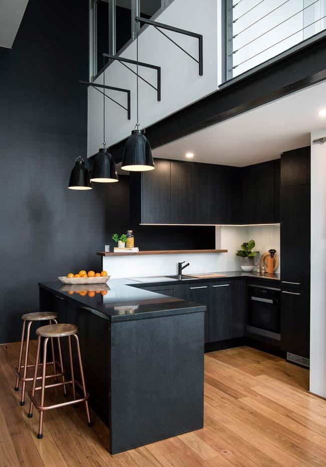 Cozinha americana para duplex