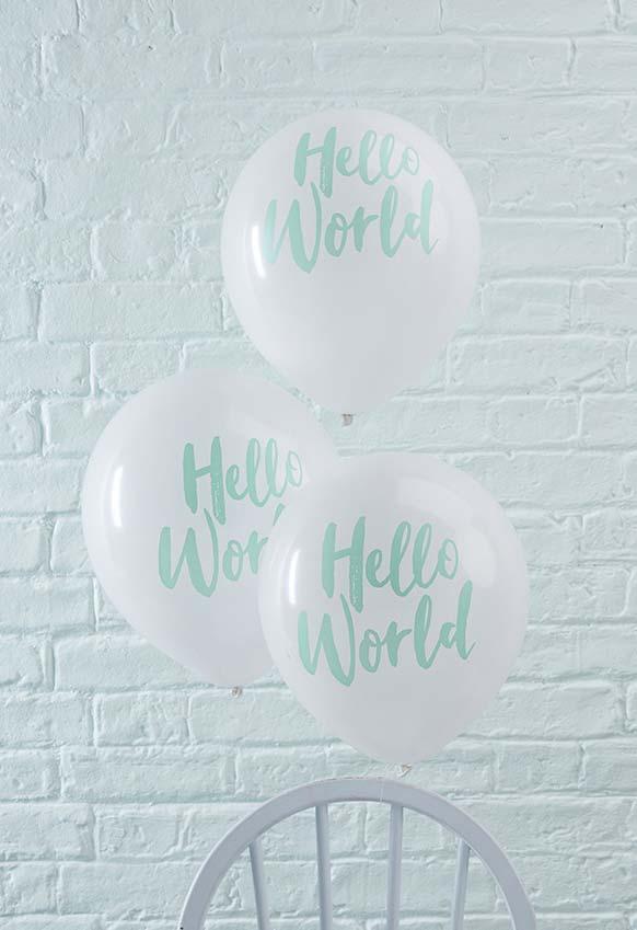 Outra ideia de chá de bebê decoração com balões