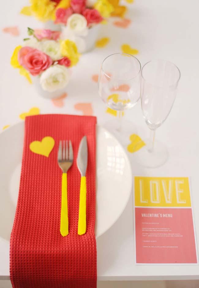 Decoração de jantar romântico