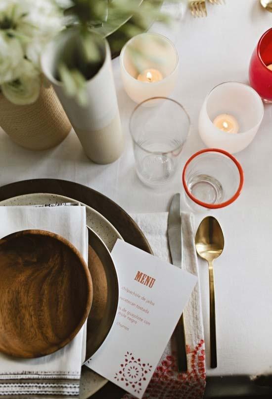 Luz de velas para decoração de jantar romântico