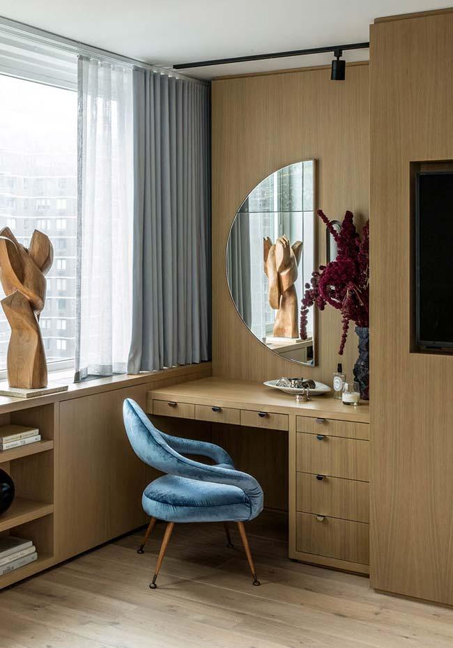 Penteadeira na decoração planejada do quarto