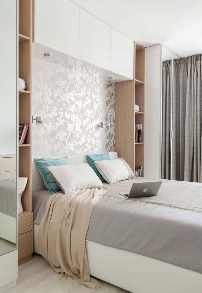 Espelho para quarto nas portas do armário planejado
