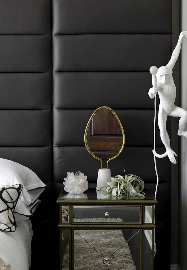 Espelho de mesa para um quarto contemporâneo e super elegante